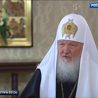 The head of Russia's largest church has said that terrorism is the response to a godless civilization with Gay prides.