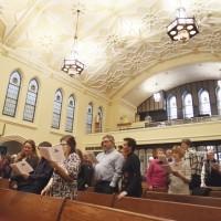 Конгрегационалистская церковь, в которой проходила служба