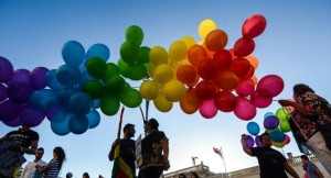 Радужные воздушные шарики