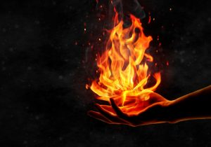 Пламя в руке