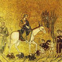 Вход Господень в Иерусалим. Мозаика собора Св. Марка в Венеции