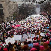 Верующие на женском Марше на Вашингтон