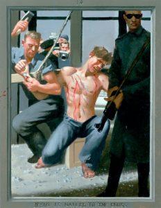 Дуг Бланшар. Иисуса пригвождают к кресту