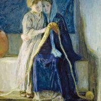 Генри Оссава Таннер. Христос и его мать читают Писание