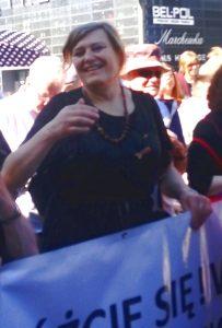Ева Холушко на Марше Равенства