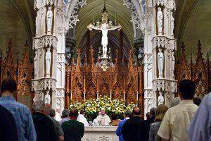 Месса в кафедральном соборе Ньюарка