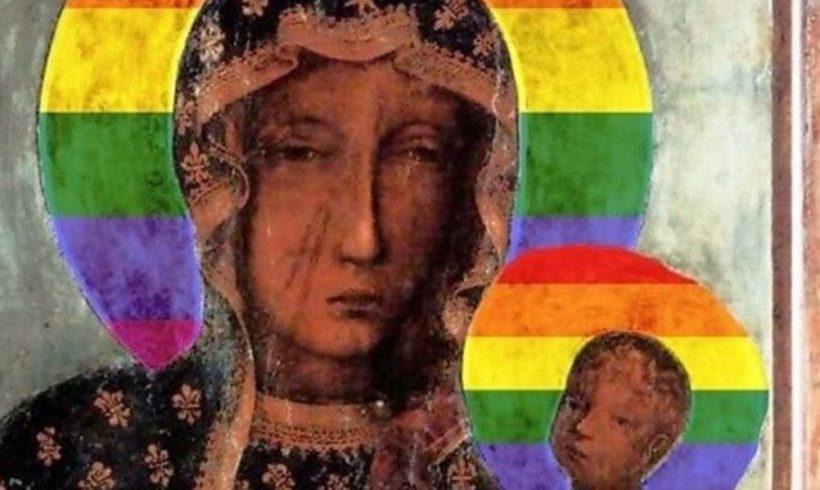 В Польше задержали женщину за образ Ченстоховской Божьей Матери с радужным нимбом